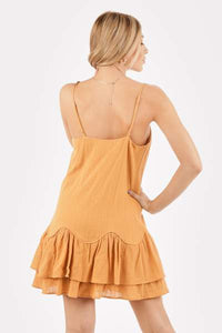 The Chloe Tangerine Mini Dress - Vida Boutique Inc.