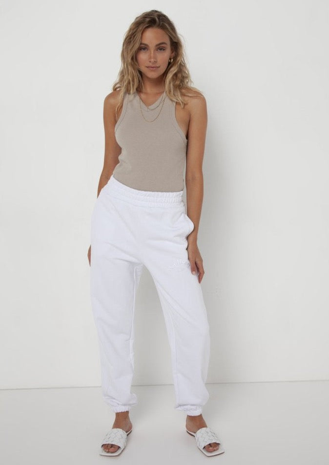 Madison the Label Est. 2010 Track Pant White - Vida Boutique Inc.
