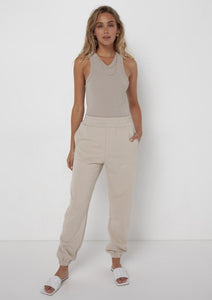 Madison the Label Est. 2010 Track Pants Stone - Vida Boutique Inc.