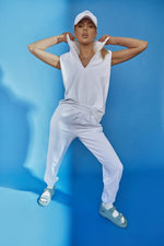 Load image into Gallery viewer, Madison the Label Est. 2010 Track Pant White - Vida Boutique Inc.