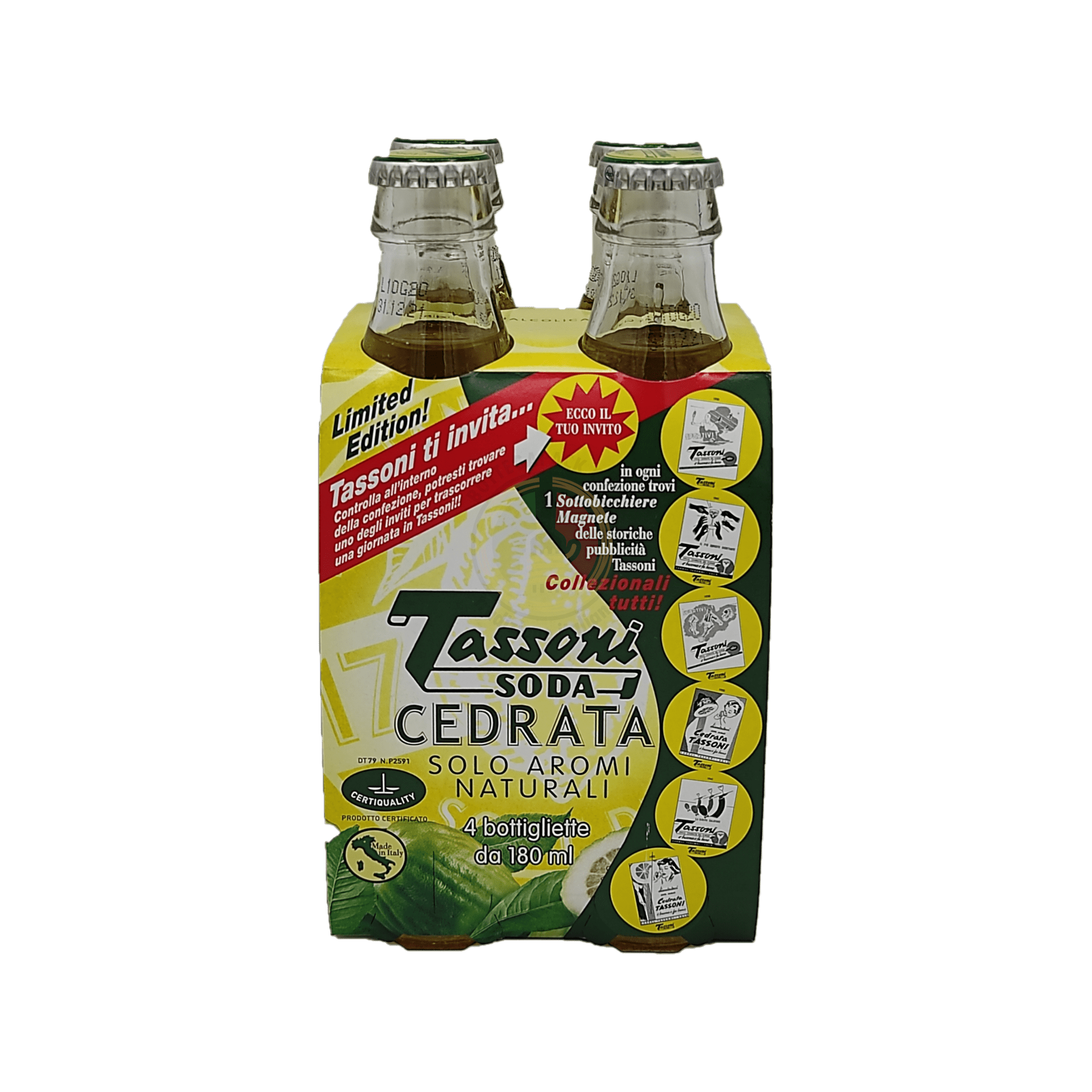 Cedrata - Tassoni - 4x180 ml
