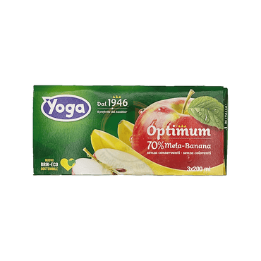 Succo Mela-Banana Optimum - Yoga - 3x200 ml