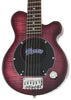 Deluxe PGG-200 Mini Elec. Guitar w/Built-In Amp (Crossroads Red Flamed Maple)