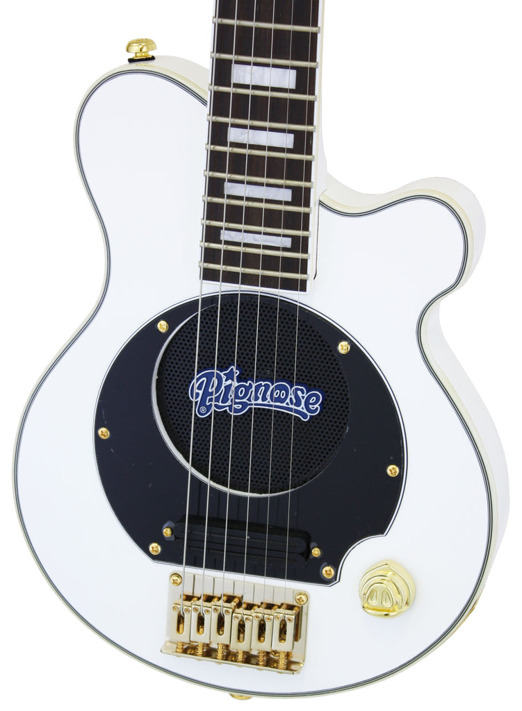 Deluxe PGG-200 Mini Elec. Guitar w/Built-In Amp (Super Deluxe White)