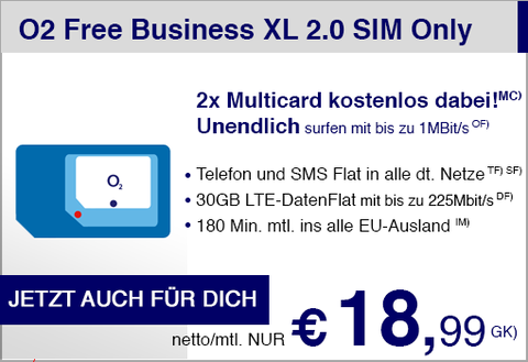 O2 Free Business XL 2.0