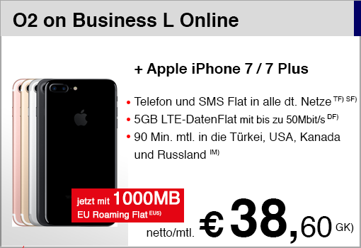 O2 on Business L mit iPhone 7