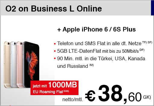 O2 on Business L mit iPhone 6S (2016)