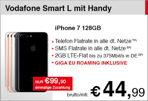 Vodafone Smart L GIGA mit iPhone 7 128GB