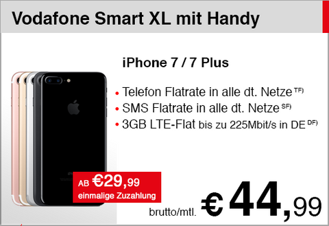 Vodafone Smart XL mit iPhone 7