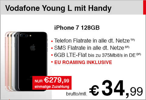 Vodafone Young L mit iPhone 7 128GB