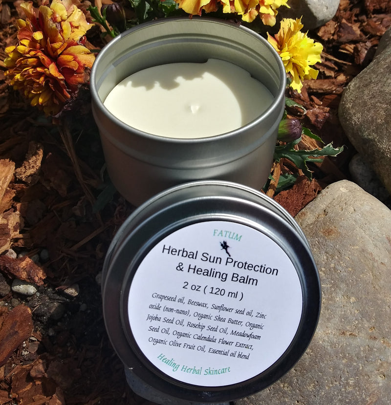 Herbal Sun Protection and Healing Balm