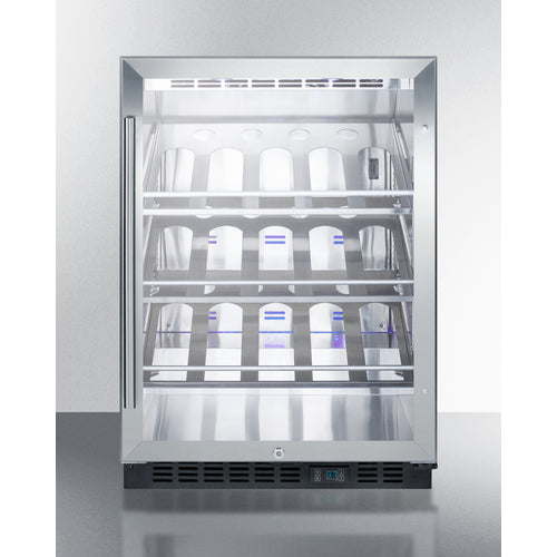 20 Bottle Single Zone Built In Freestanding Wine Cooler Summit Cantina Fridge