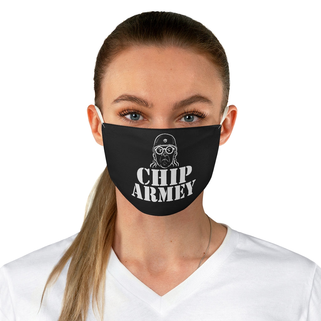 CHIP ARMEY Black outline Fabric Face Mask