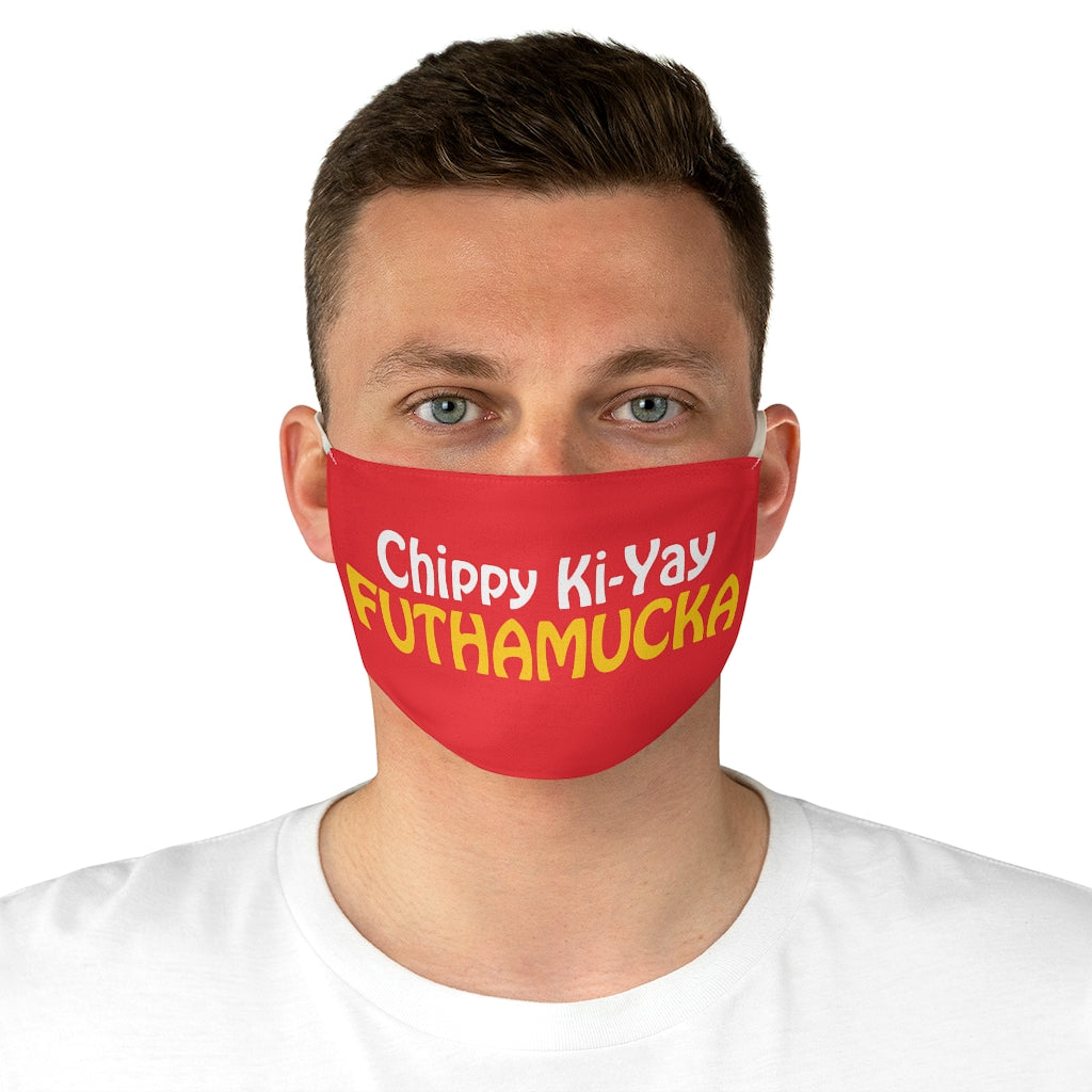 Chippy Ki Yay red Fabric Face Mask