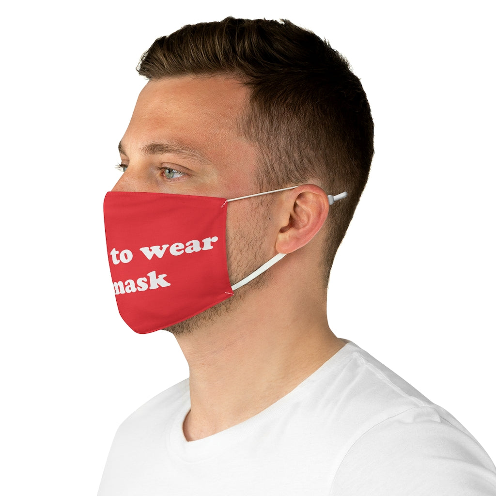 REFUSE RED WHITE Fabric Face Mask