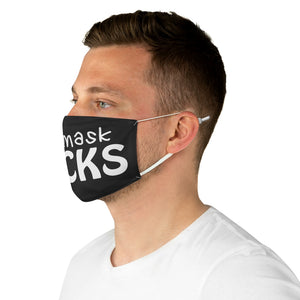 this mask sucks  black Fabric Face Mask