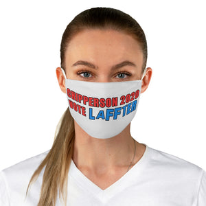 VOTE LAFFTER red blue Fabric Face Mask