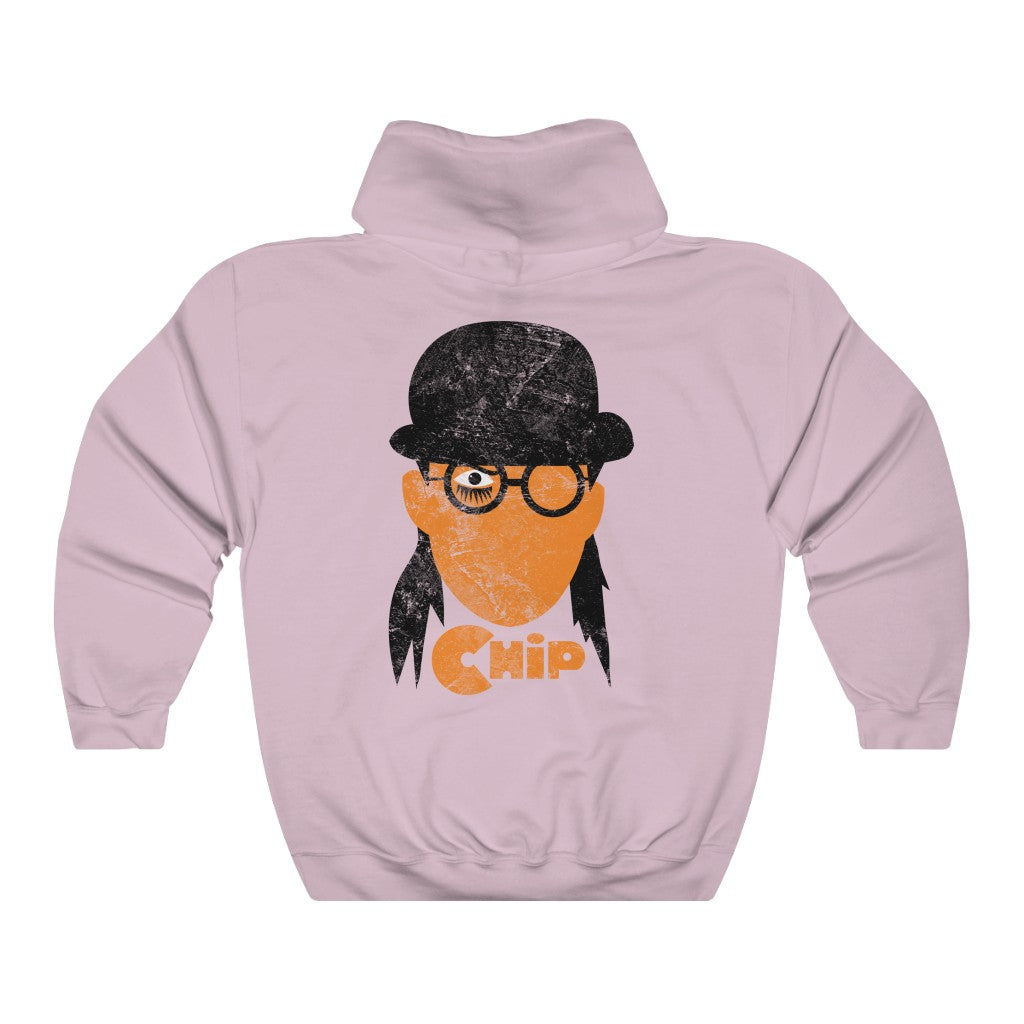 Chip Orange Double Sided Distress Print Hoodie