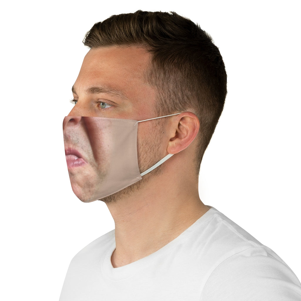 Chip handsome face Fabric Face Mask