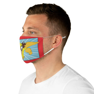 LAUGHTER MAN Fabric Face Mask