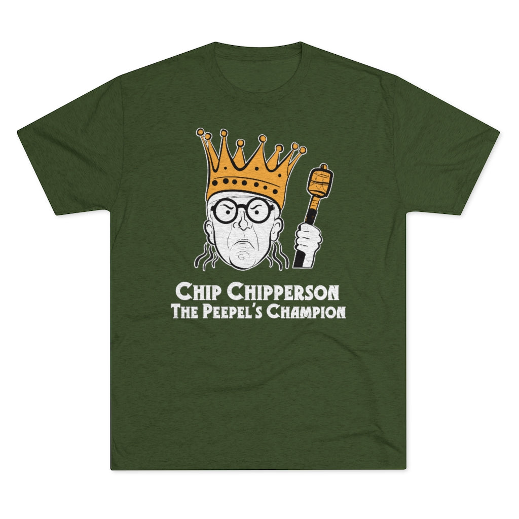 Chip Chipperson The Peepel's Champion Triblend Athletic Fit Shirt