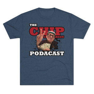 The Chip Chipperson Podacast Logo Triblend Athletic Fit Shirt