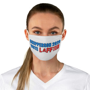 VOTE LAFFTER blue red Fabric Face Mask