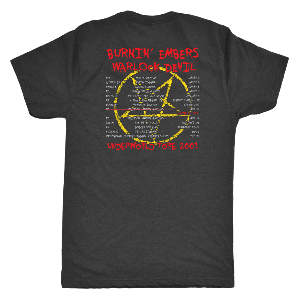 Burnin Embers world tour 2001 Triblend Athletic Fit Shirt DOUBLE SIDED