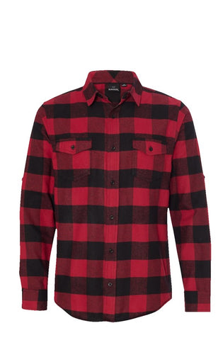Long Sleeve Flannel Red And Black