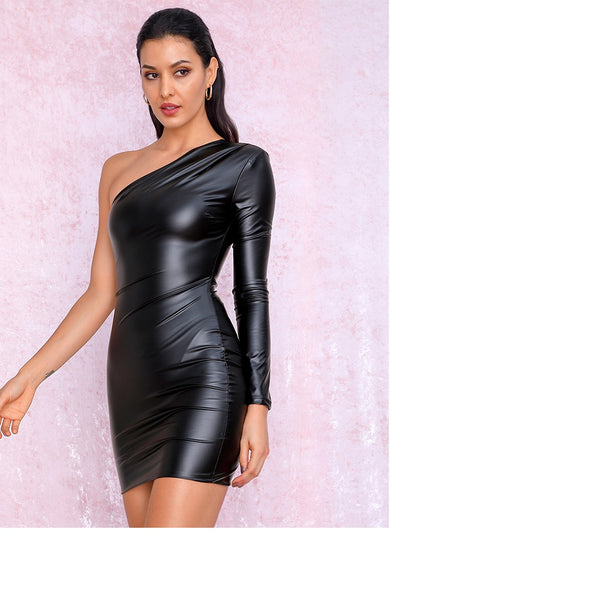 Penelope Faux Leather Dress
