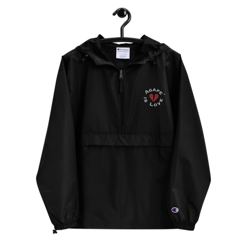 Agapé Embroidered Champion Packable Jacket