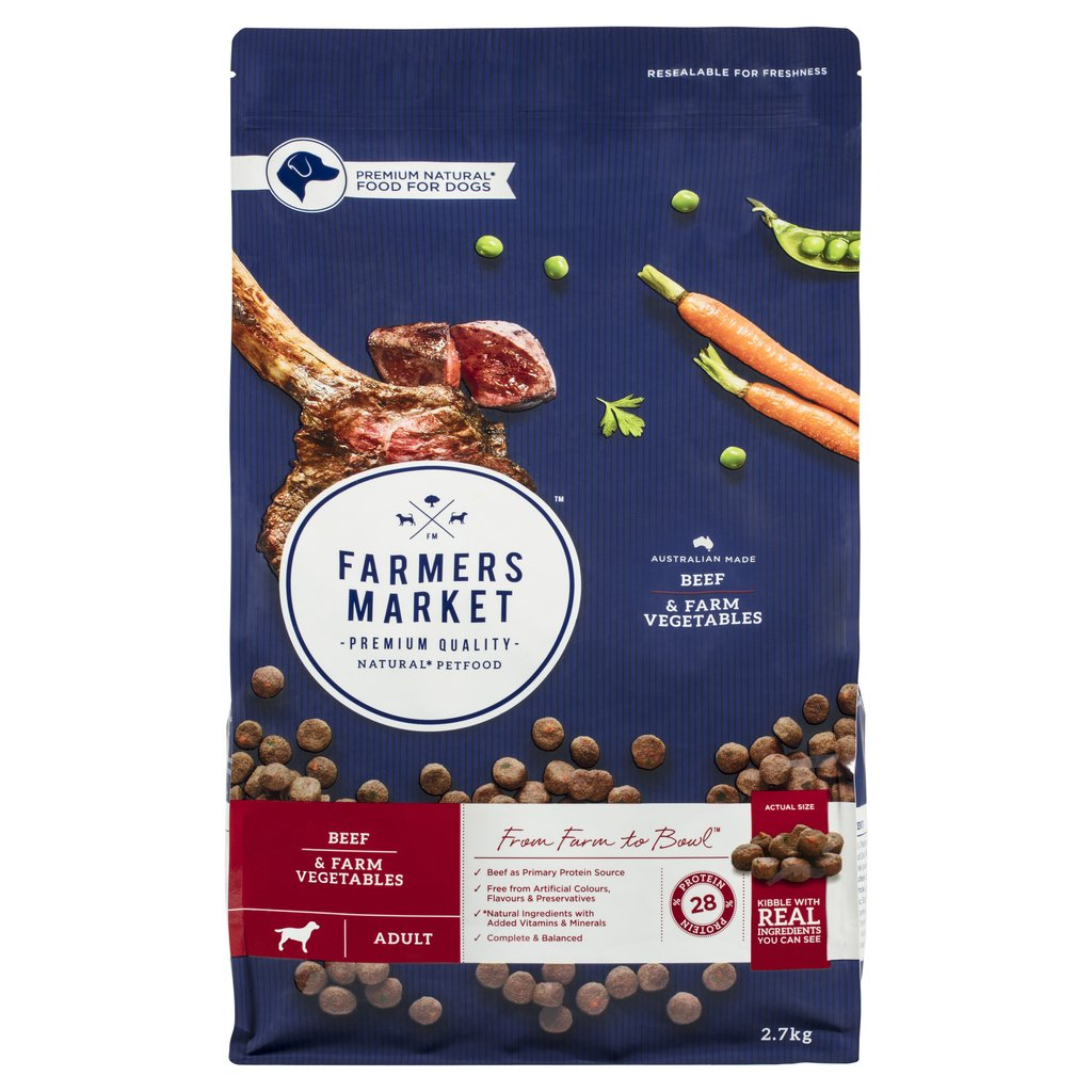Farmers Market Beef and Farm Vegetables Dry Dog Food