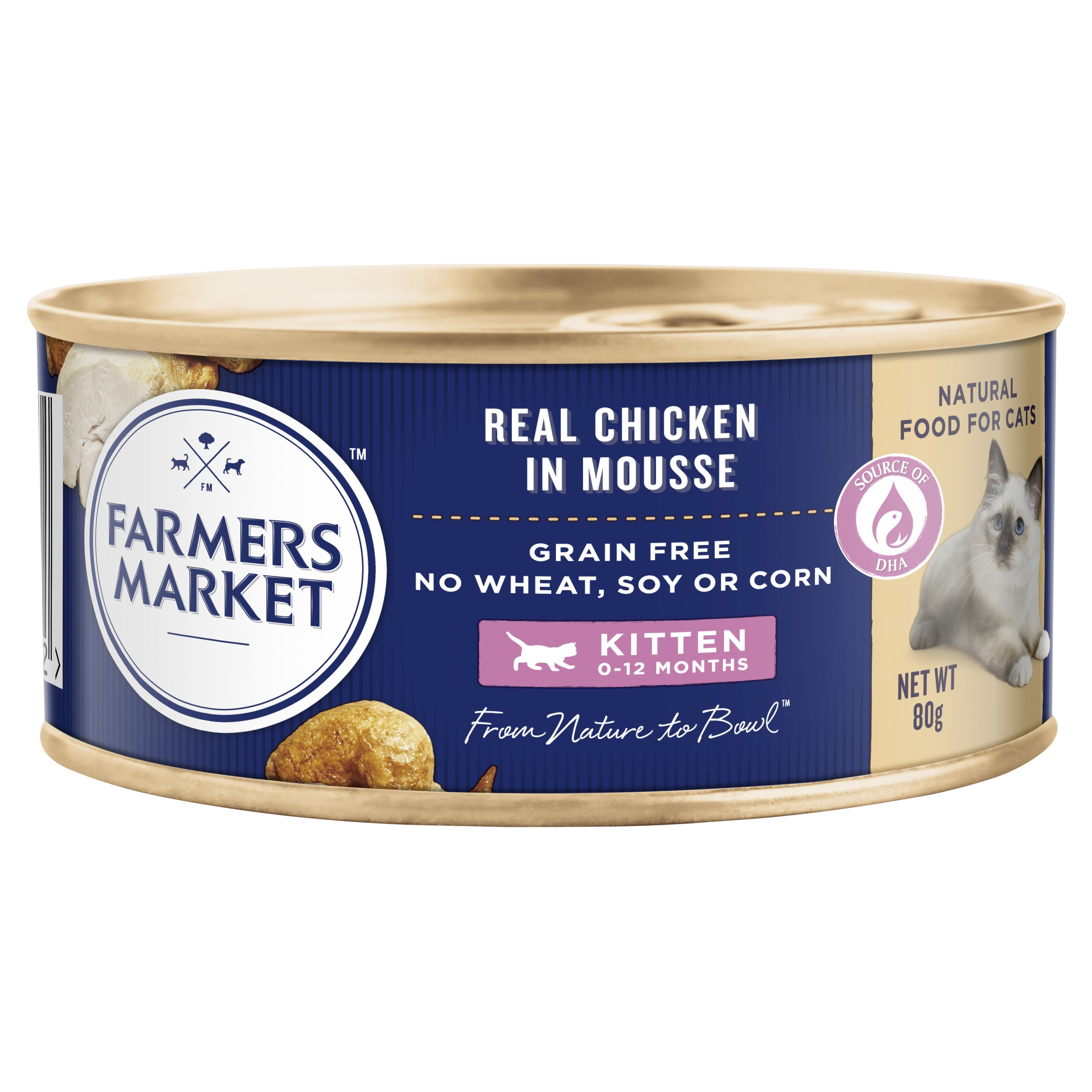 Farmers Market Real Chicken in Mousse Grain-Free Kitten Food for 0-12 Months