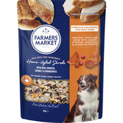 Farmers Market Home-Styled Shreds with Chicken Carrots and Cranberries Chilled Dog Food