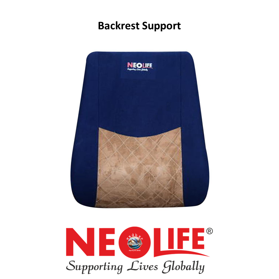 NEOLIFE Blue Back Rest Spine Support Pillow Bolster