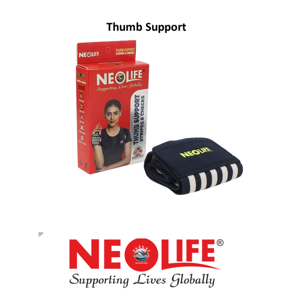 NEOLIFE Wrist Binder With Thumb Support Sports Care Stripes and Checks