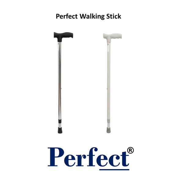 Medicell Walking Stick White/Black