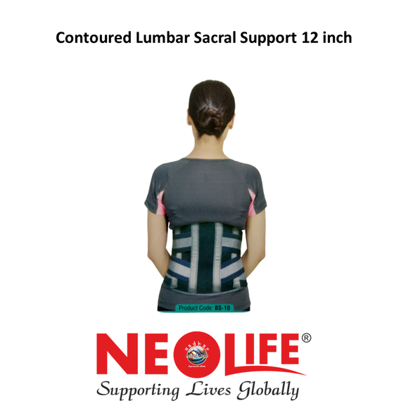 NEOLIFE Lumbar Sacral Support Contoured Belt 12
