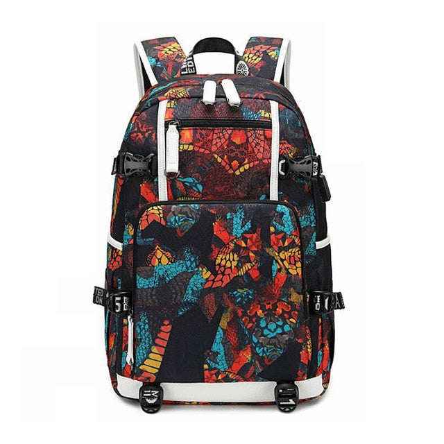 Waterproof Backpacks Oxford Printed