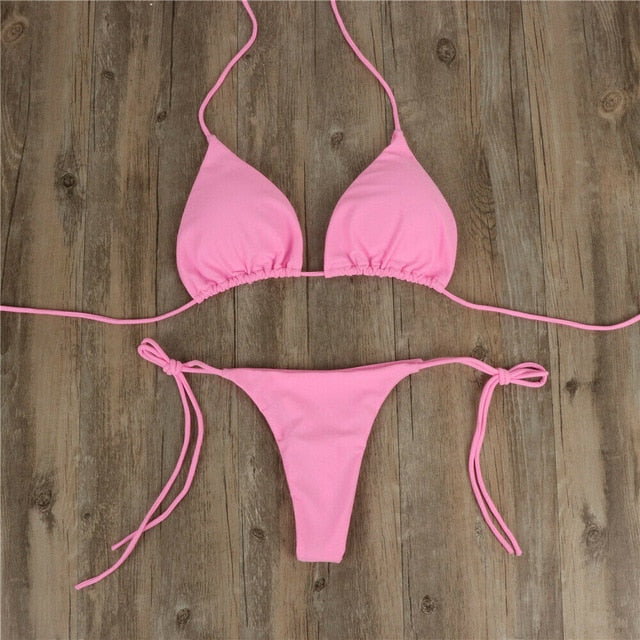 2pcs G-String Thong Beach Triangle Swimming Suit