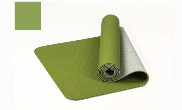 Thick Double Color Non-slip TPE Yoga Mat Quality Exercise Sport Mat for Fitness Gym Home