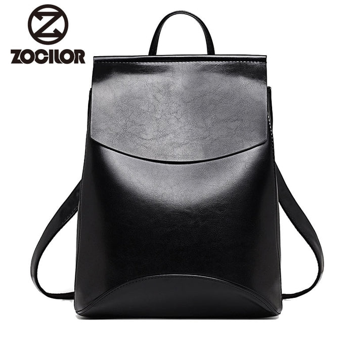 Backpack High Quality Youth Leather Backpacks for Teenage Girls Female
