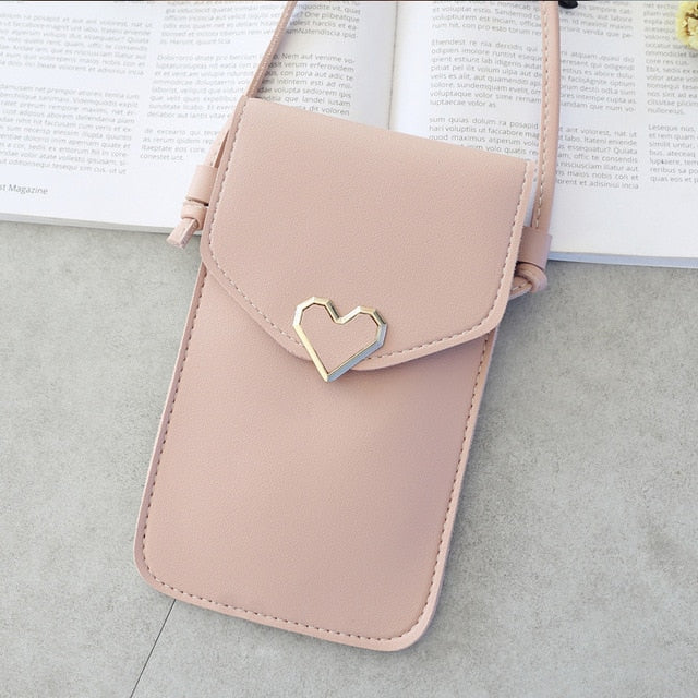 Touch Screen Cell Phone Purse Wallet Leather Shoulder Strap Handbag Women Bag