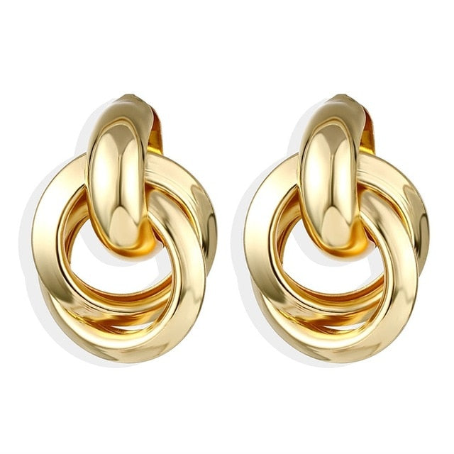 Big Circle Round Hoop Earrings