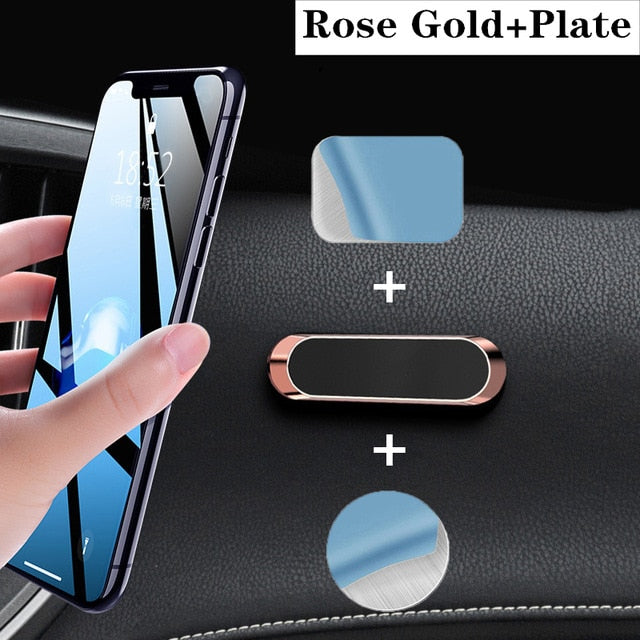 LISM Magnetic Car Phone Holder Dashboard Mini Strip Shape Stand Metal Magnet GPS Car Mount for Wall