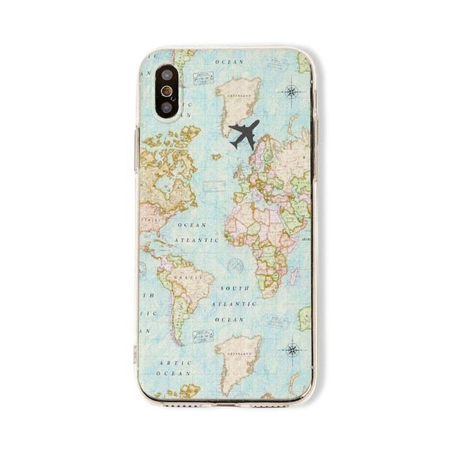 animal Map starry sky iPhone Case Suitable