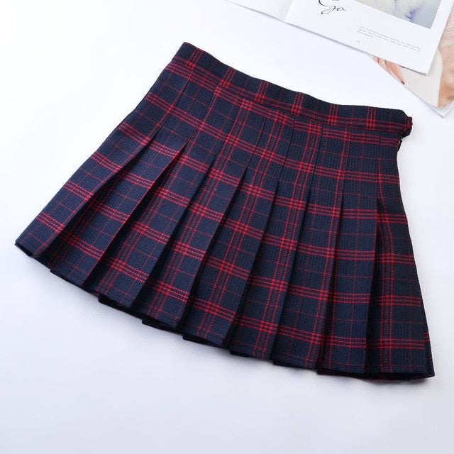Preppy Style Plaid Skirts