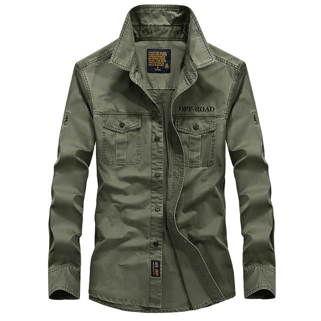 Brand Military Army Shirt Men