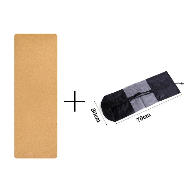 Natural Cork Yoga Mat For FitnessSport Mats Pilates Exercise Non-slip Yoga mat With Position Body Line
