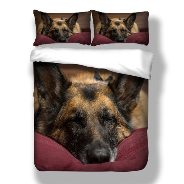 3D Printed Duvet Cover Set Pet Dog